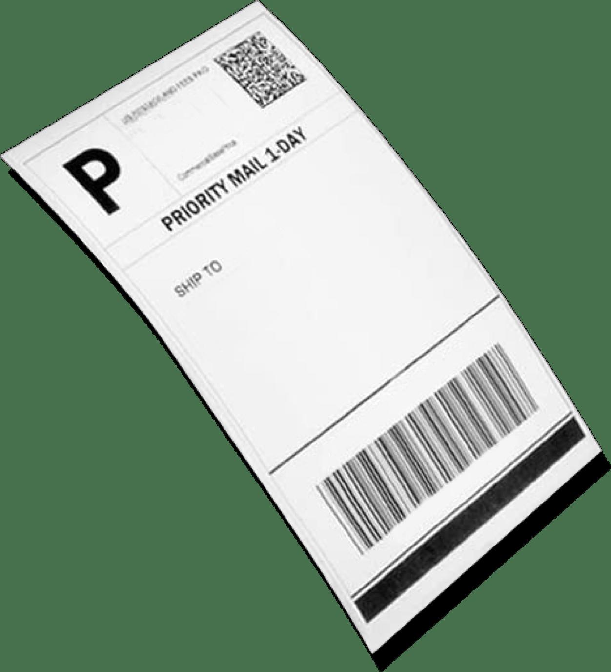 Thermal printing label